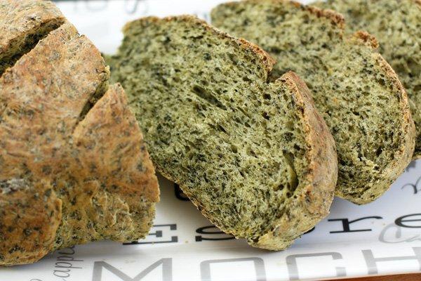Рецепт Зеленый хлеб со шпинатом