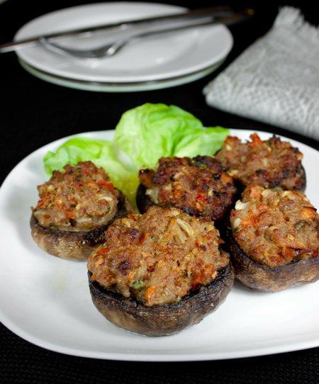 Рецепт Шампиньоны, фаршированные мясом