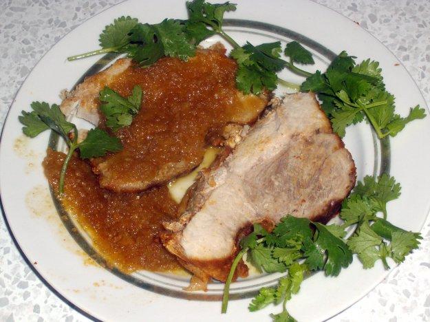 Рецепт Свинина с антоновкой в рукаве