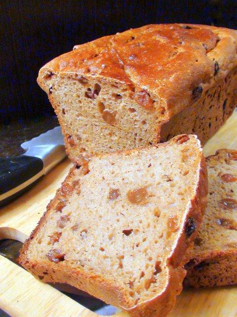 Рецепт Хлеб из цельнозерновой муки без дрожжей, на быстрой кефирной закваске, с изюмом и кориандром.