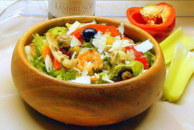 Рецепт Маринованные морепродукты и овощи