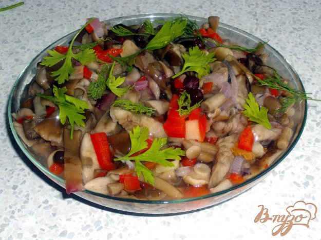 Рецепт Грибной салат в банке