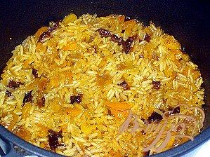 Рисовая запеканка с киселем