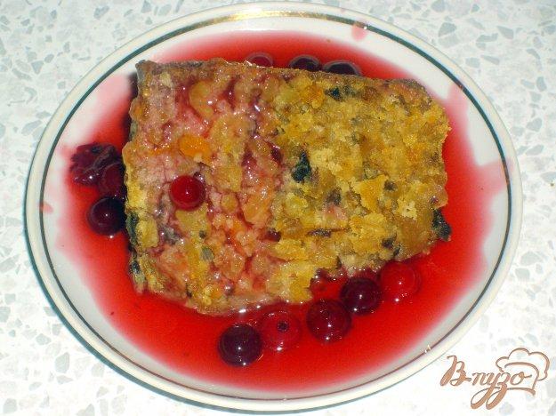 фото рецепта: Рисовая запеканка с киселем