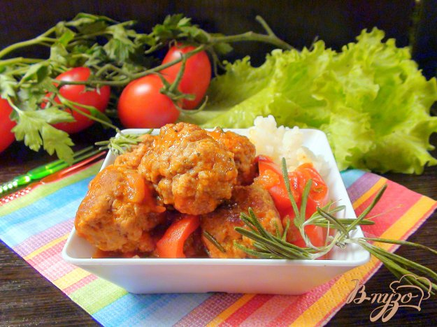 Рецепт Тефтели из колбасного фарша в томатном соусе.