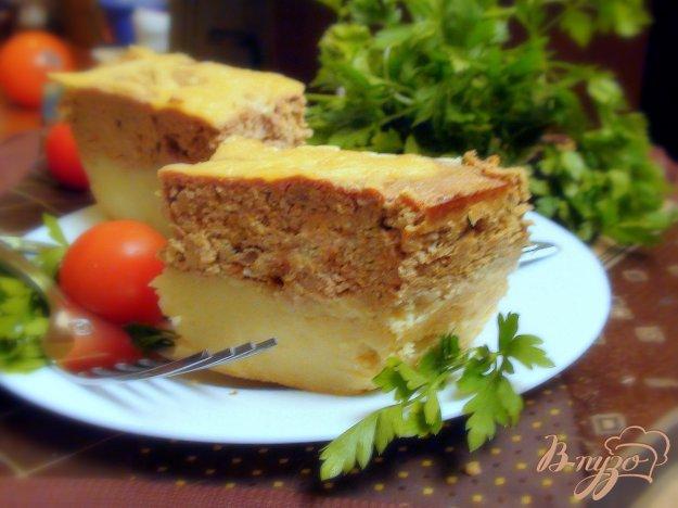 Рецепт Картофельная запеканка с печёночным суфле.