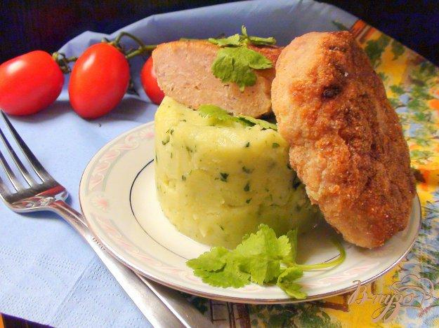 Рецепт Ароматное картофельное пюре с кинзой и чесноком.
