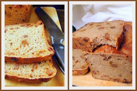 Хлеб из цельнозерновой муки без дрожжей, на быстрой кефирной закваске, с изюмом и кориандром.