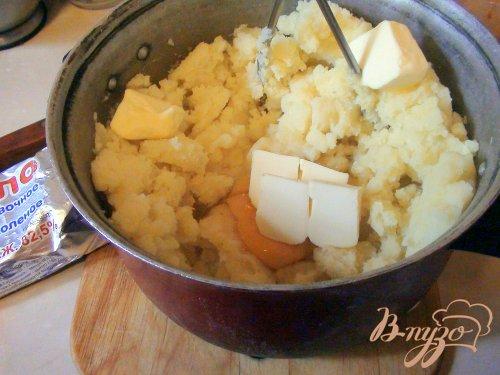 Картофельная запеканка с печёночным суфле.