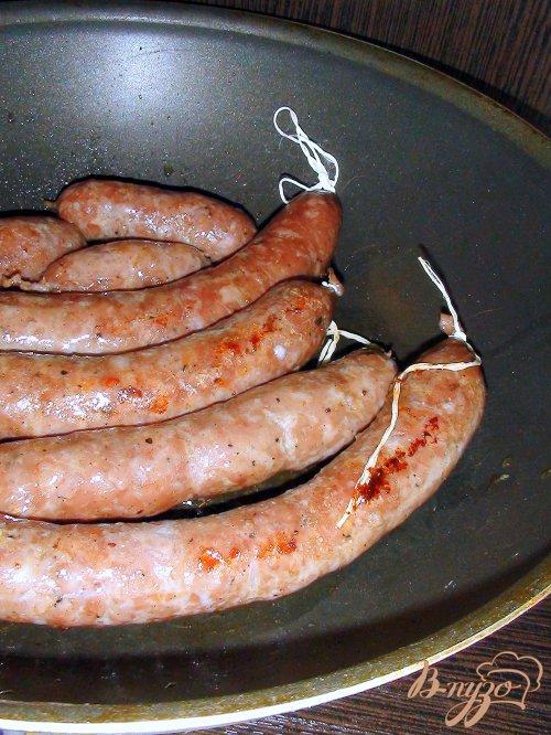 Домашняя свинная колбаса.