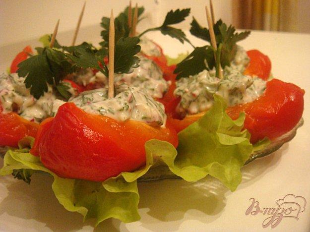 Рецепт Башмачки из печеного перца (закуска)