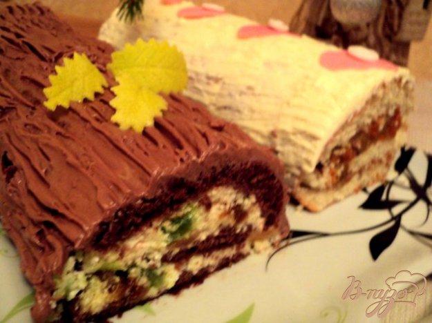 Рецепт Рулеты «Рождественское полено»