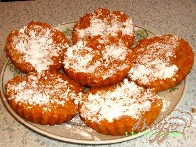 Рецепт Пшенные маффины с творогом и тыквой