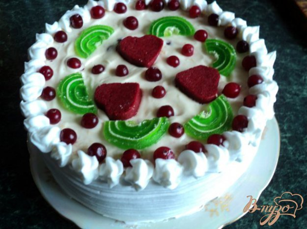 Торт «Зимова журавлина». Як приготувати з фото