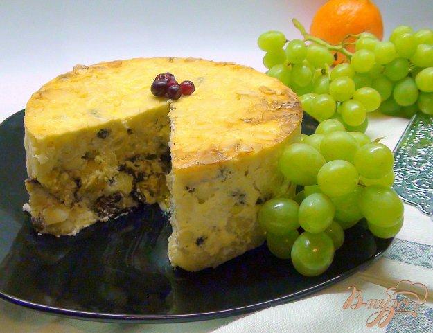 Рецепт Паста торт или запеканка из макарон с творогом и фруктами.