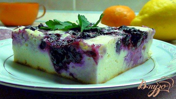 Рецепт Минималистический чизкейк с черной смородиной или твороженная запеканка без муки или манки!