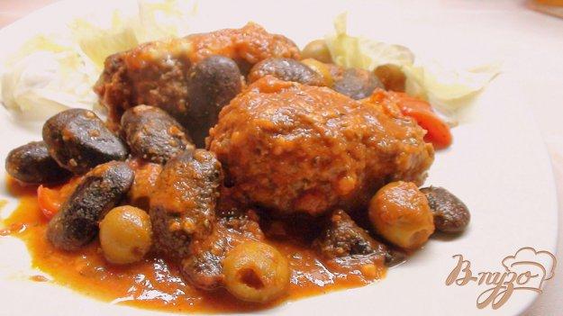 Рецепт Котлеты, запечённые в томатном соусе с фасолью под сыром… со Средиземноморскими нотками.