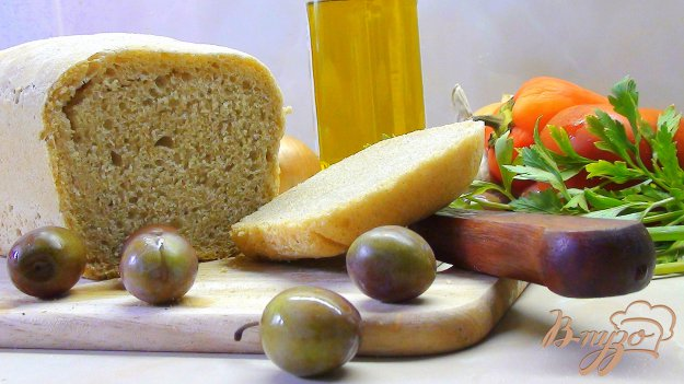 Рецепт Пресный тосканский хлеб. (Серый, формованный на закваске.)