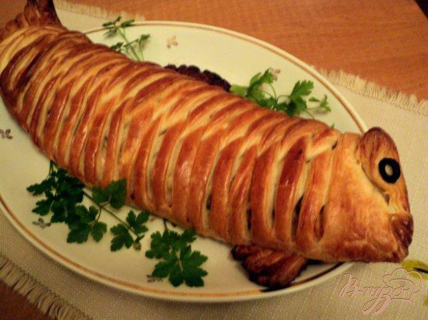 Рецепт Пирог с рыбой «Золотая рыбка»