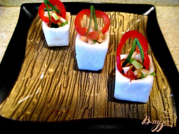 фото рецепта: Порционный салат в брюкве.