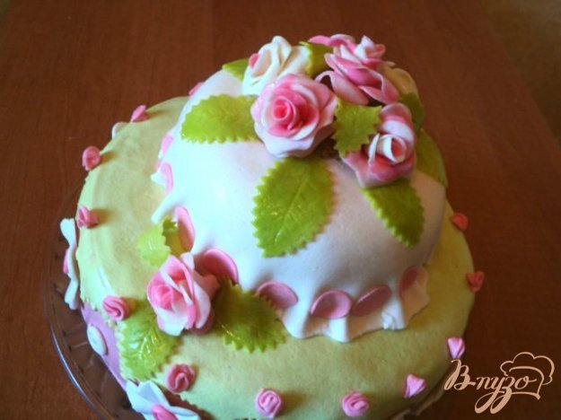 фото рецепта: Торт «Цветы» для Риты.