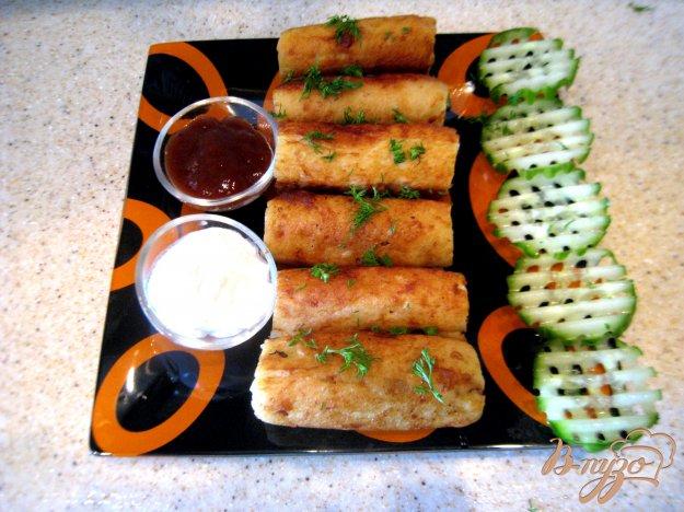 фото рецепта: Картофельные кнедлики с сырно-грибной начинкой