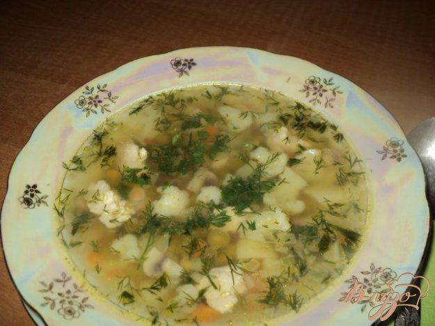 фото рецепта: Суп из цветной капусты с шампиньонами.