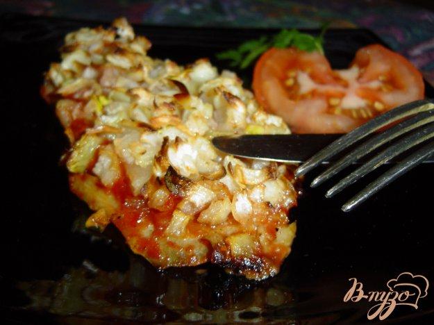 Рецепт Рыба, запеченная с чесноком и луком