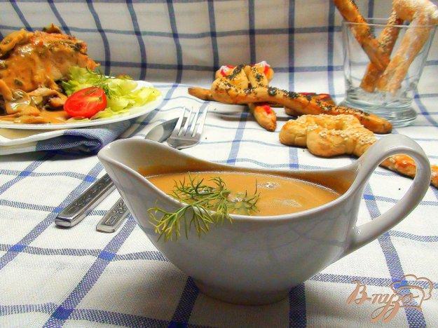 Рецепт Коричневый сырный соус к мясу… и не только.