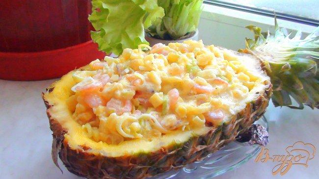 Рецепты салатов с ананасом с фотографиями