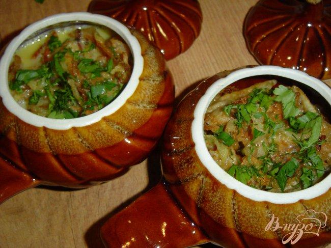 Жаркое в горшочках с мясом, грибами и картошкой в духовке ...