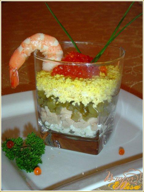 Рецепт Веррины с красной икрой и печенью трески