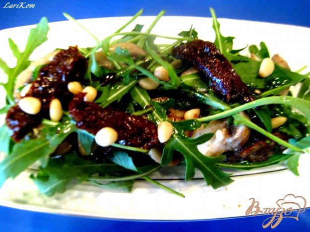 Рецепт Теплый салат из куриной печени с шампиньонами