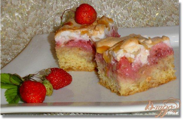 Рецепт пирога с творогом и клубникой с пошагово в