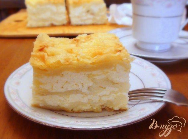 Рецепт Ленивая ачма или пирог из лаваша с сыром.