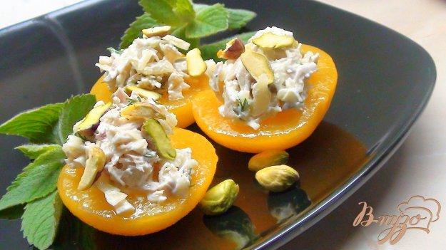 Рецепт Салат-закуска «Персиковое наслаждение».