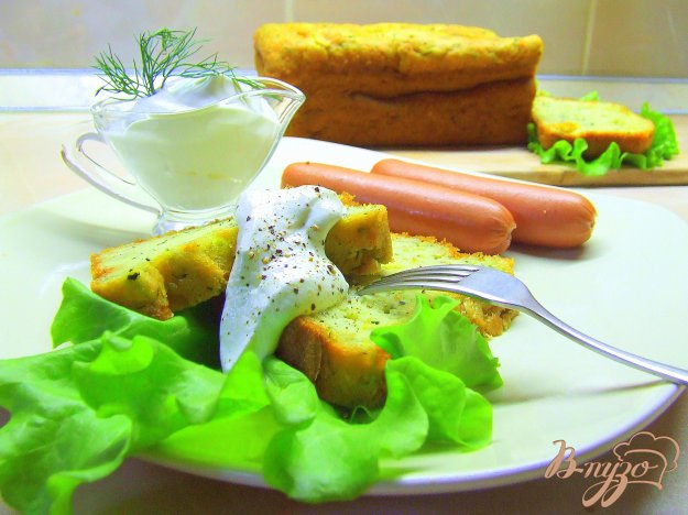 Рецепт Суфле из кабачка с сырами и зеленью.