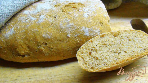 Рецепт Тосканский хлеб из цельнозерновой муки. Хлеб на закваске.