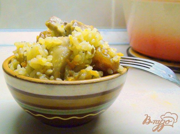 Рецепт Курица с рИсом, алычой и барбарИсом. По мотивам блюда «плов с курицей».