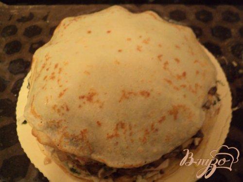 Курник многослойный пирог