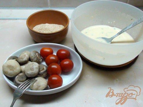 Грибы и помидоры в кляре. Горячая закуска!