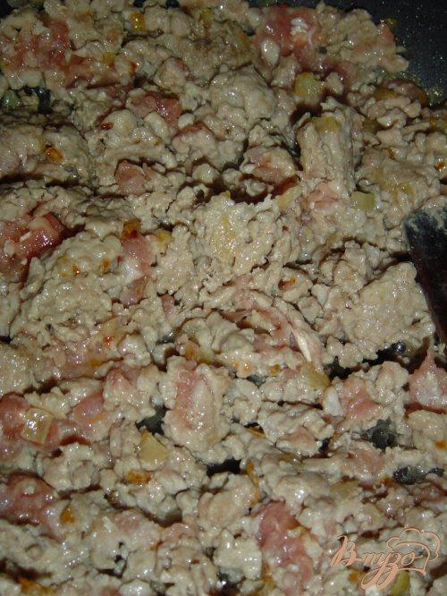 Пирог из лаваша с мясом, сыром, помидорами -черри
