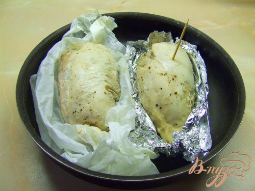 Куриные грудки фаршированные грибами.