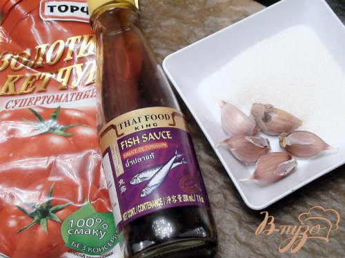 Креветки в кисло-сладком чесночном соусе. Экспресс рецепт.