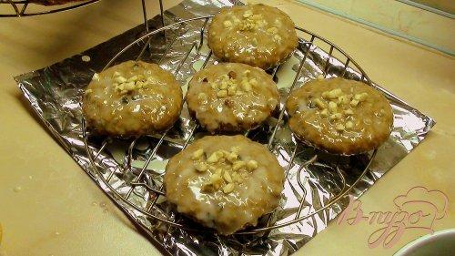 Овсяное печенье в лимонной глазури и с карамельной корочкой. Постный вариант.
