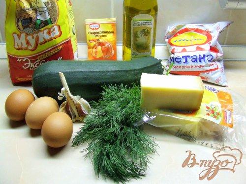 Суфле из кабачка с сырами и зеленью.