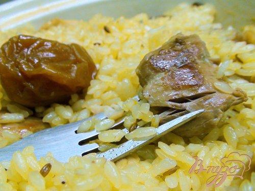 Курица с рИсом, алычой и барбарИсом. По мотивам блюда «плов с курицей».