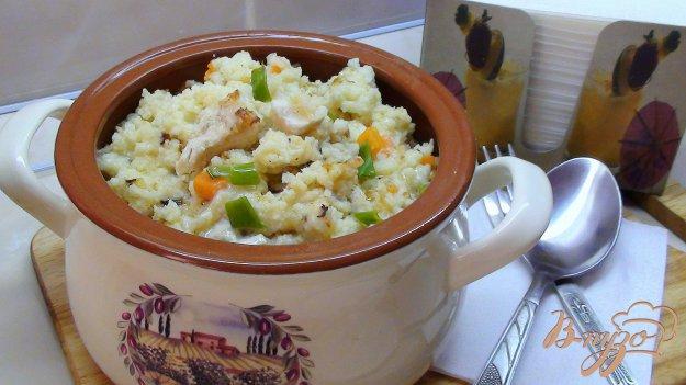 Рецепт Пшённая каша с курочкой, томлённая в горшочке.