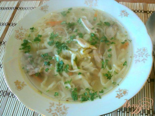 фото рецепта: Суп с домашней лапшой из фазана.
