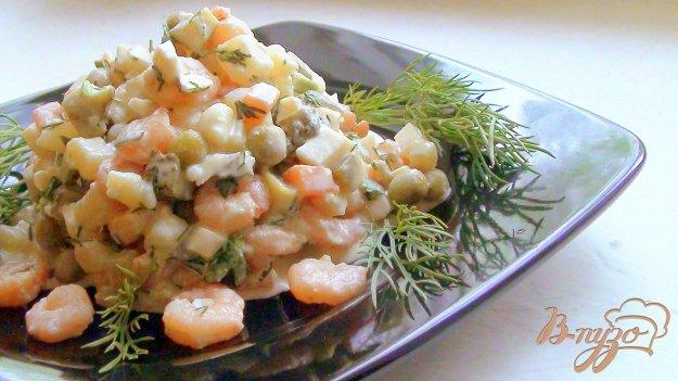 фото рецепта: Оливье с креветками.